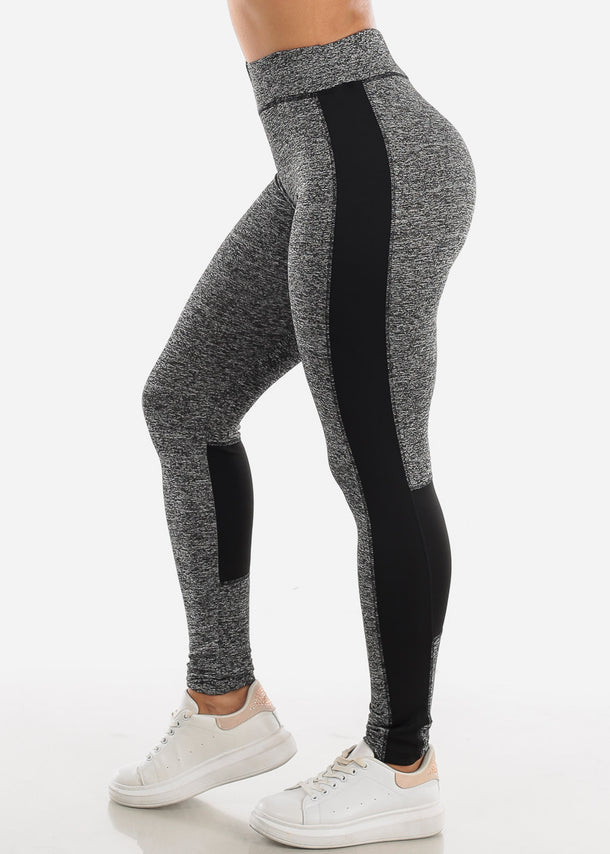 Activewear Grey & Black Leggings