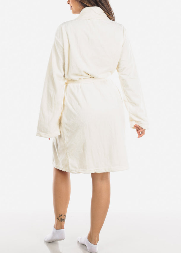 Ivory Fleece Robe