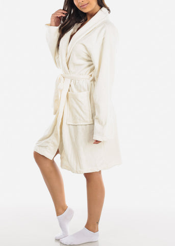 Image of Ivory Fleece Robe