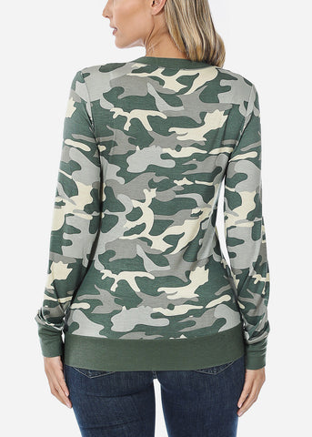 Image of Green Camo Cardigan