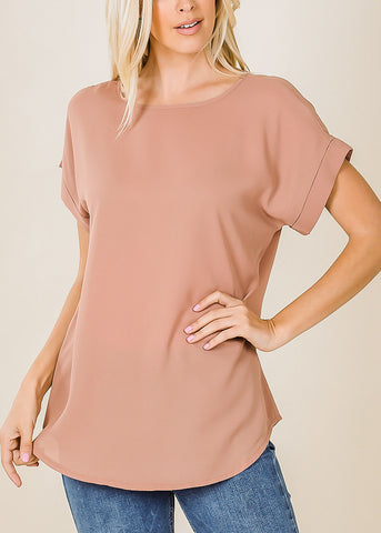 Lightweight Short Sleeve Egg Shell Top