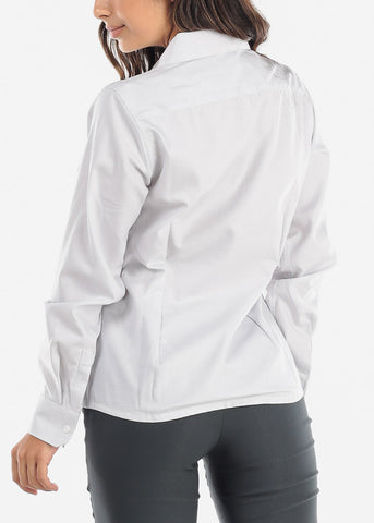 Image of Silver Wrinkle-Free Printed Button Down Shirt