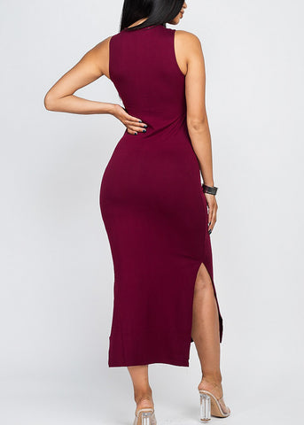 Sexy Side Slits Midi Dress