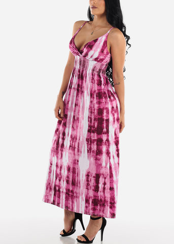Image of Pink Tie Dye Maxi Dress