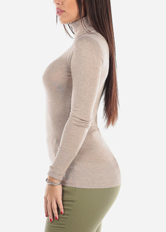 Image of Oat Turtle Neck Top