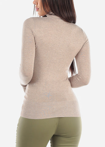 Oat Turtle Neck Top