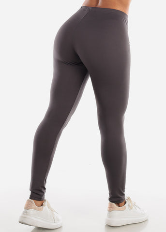 "Image of Activewear Dark Grey Leggings ""Love"""