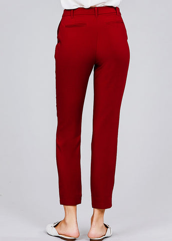 Classic Burgundy Dress Pants