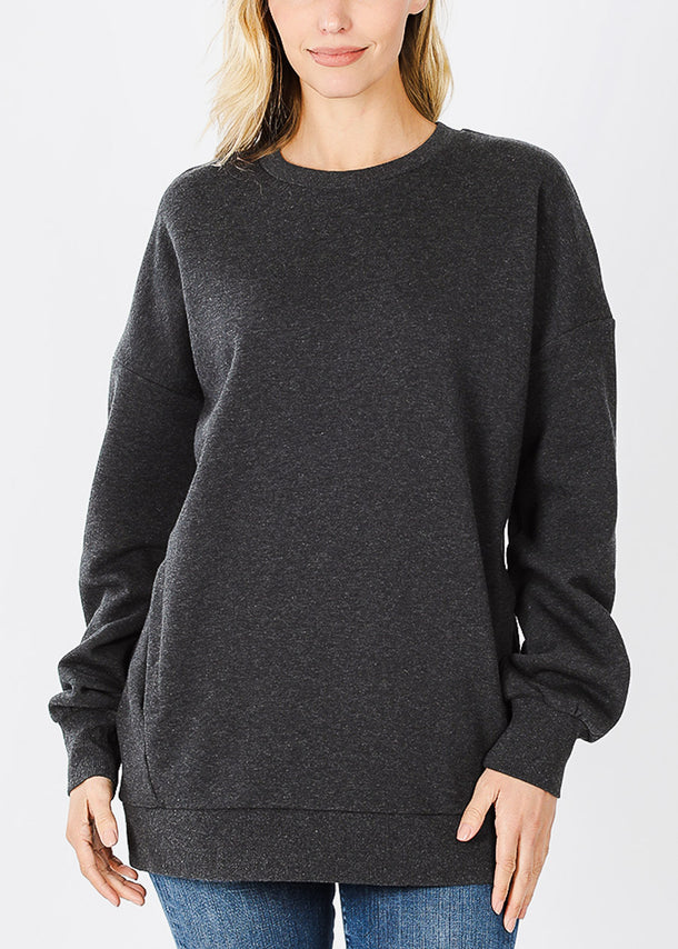 Charcoal Sweatshirt W Pockets