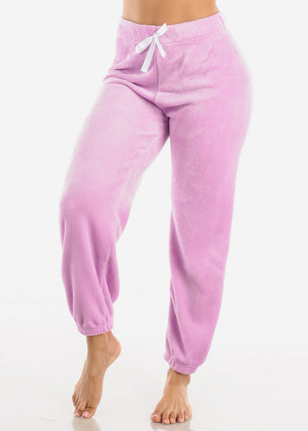 Lilac Plush Pajama Pants