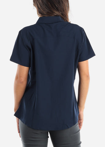 Image of Button Up Navy Shirt