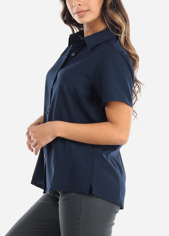 Button Up Navy Shirt