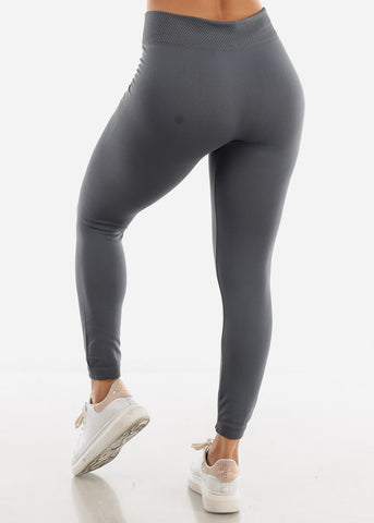 Full Length High Waist Grey Leggings