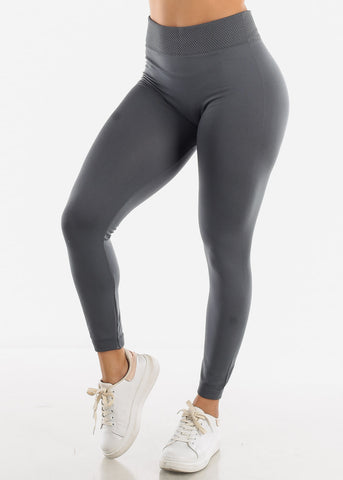 Activewear High Waist Grey Leggings