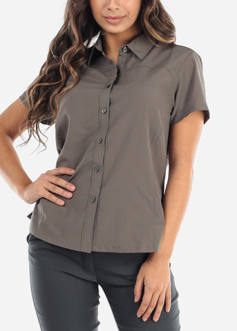 Button Up Olive Shirt