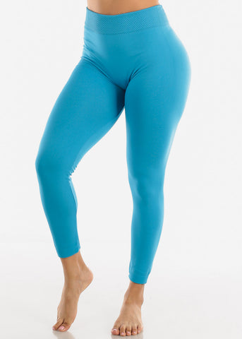 Activewear High Waist Blue Leggings