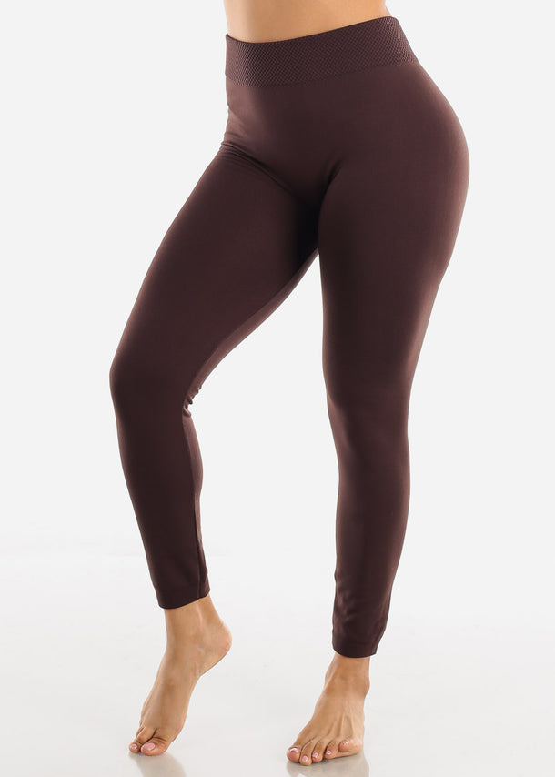Activewear High Waist Brown Leggings