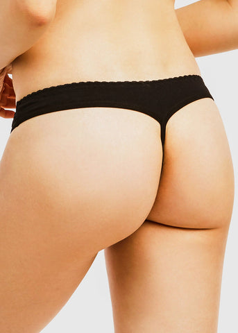 Image of Assorted Cotton G-String Panties (12 PACK)