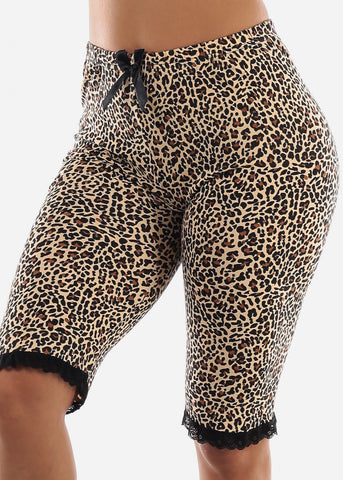 Image of Leopard Print Top & Capris (2 PCE PJ SET)
