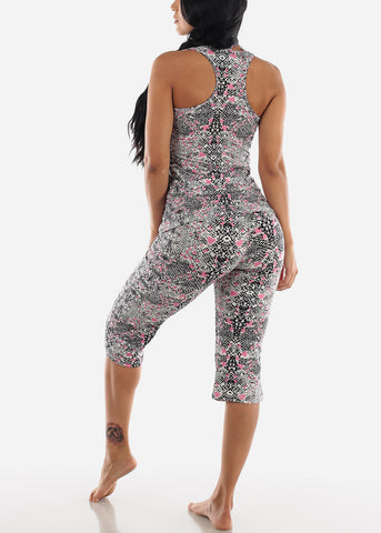 Image of Snake Print Top & Capris (2 PCE PJ SET)