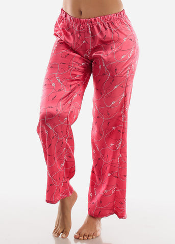 Pink Satin Cami & Pants ( 2 PCE PJ SET)
