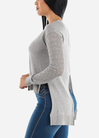 Image of Open Back Button Down Cardigan