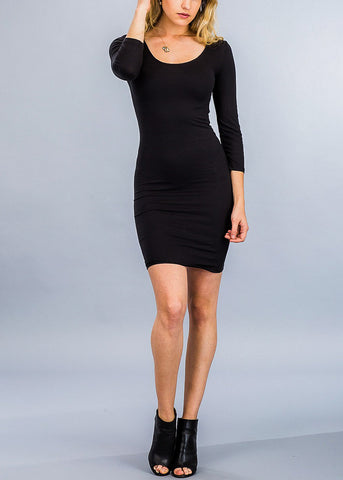 Pretty Black Chic Bodycon Dress