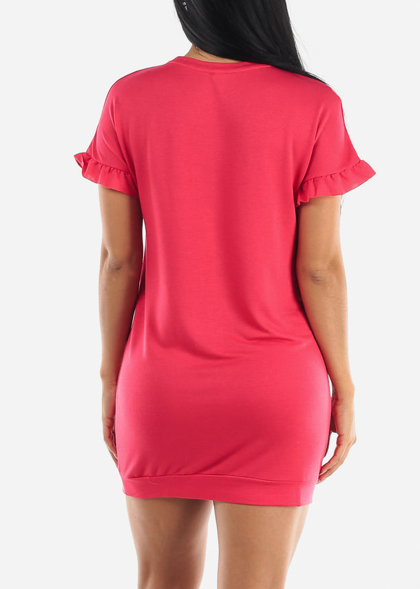 Cute Ruffled Bodycon Mini Dress