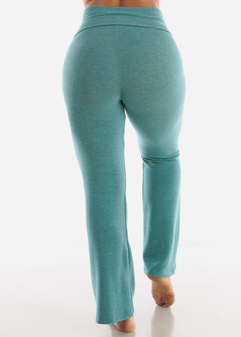Heather Teal Yoga Pants