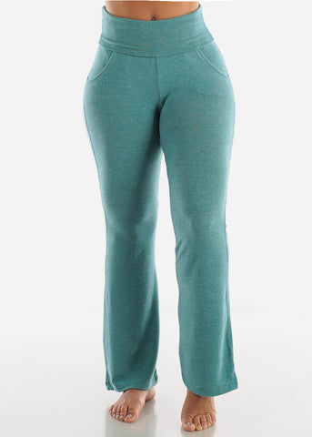 Image of Heather Teal Yoga Pants