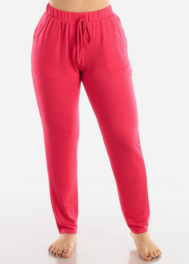 Loose Fit Bright Pink Pants