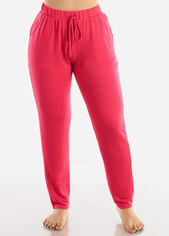 Image of Loose Fit Bright Pink Pants