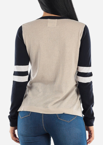 Two Tone Light Sweater