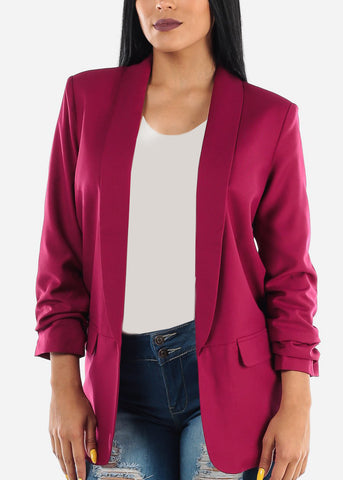 Oversized Burgundy Blazer