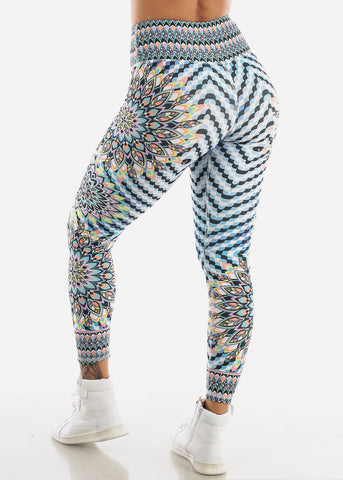 Image of Activewear Multicolor High Waisted Leggings