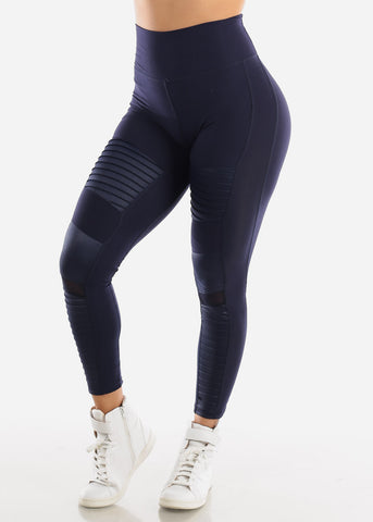 Image of Activewear Moto Style Navy Leggings
