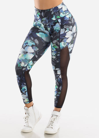Image of Activewear Floral High Waisted Leggings