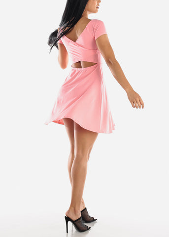 Pink Fit & Flare Mini Dress