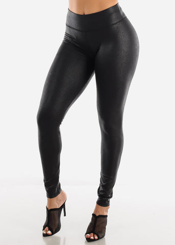 Image of Metallic Snake Leggings