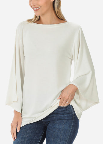 Ivory Bell Sleeve Tunic Top