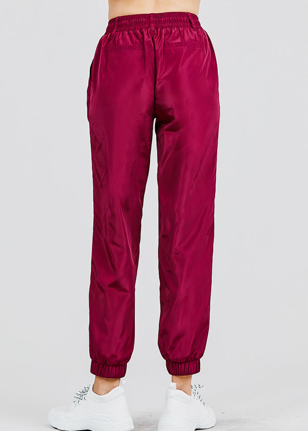 Windbreaker Burgundy Jogger Pants