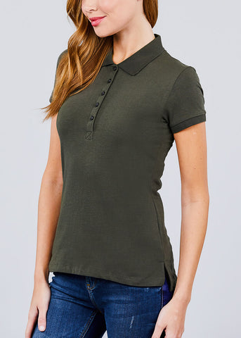 Image of Olive Polo Shirt