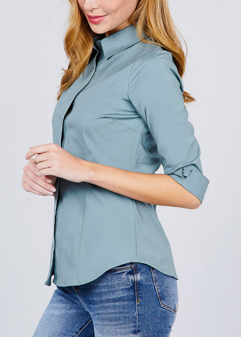 Image of Sage Button Up Shirt