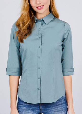 Sage Button Up Shirt