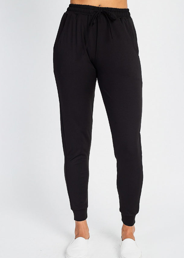 High Waist Black Jogger Pants