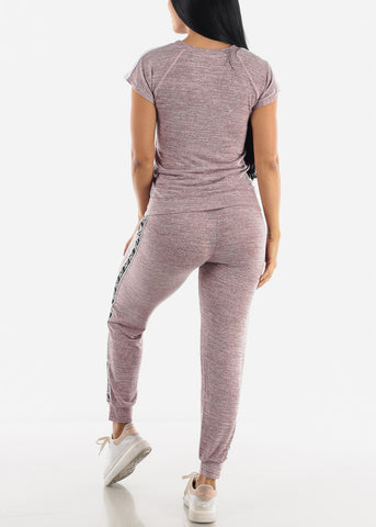 "Image of ""Love"" Lilac Top & Joggers ( 2 PCE SET )"