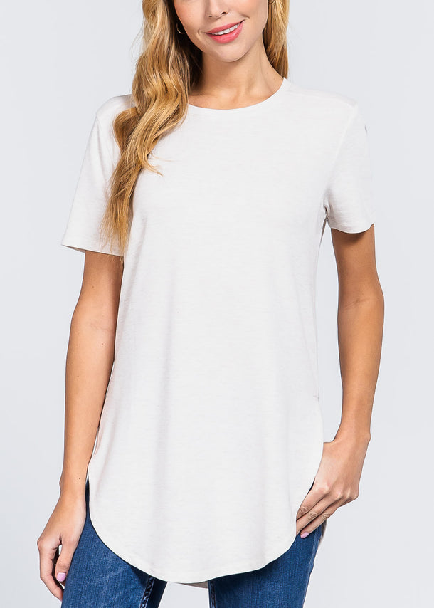Side Slits Oat Top