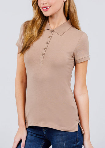Image of Khaki Polo Shirt