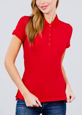 Image of Red Polo Shirt