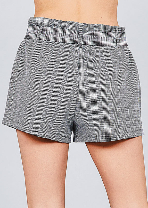 Houndstooth Paperbag Shorts